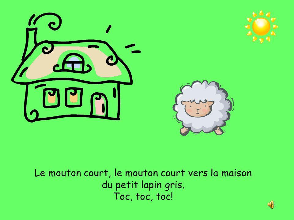 Le mouton court, le mouton court vers la maison du petit lapin gris.