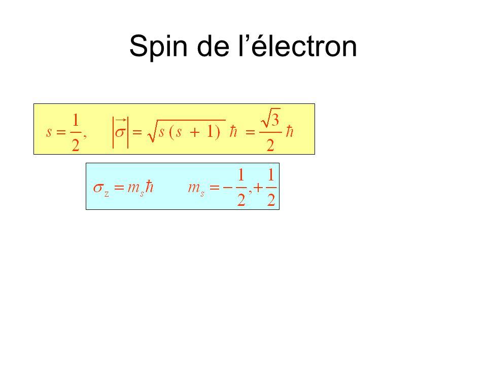 Spin de l'électron