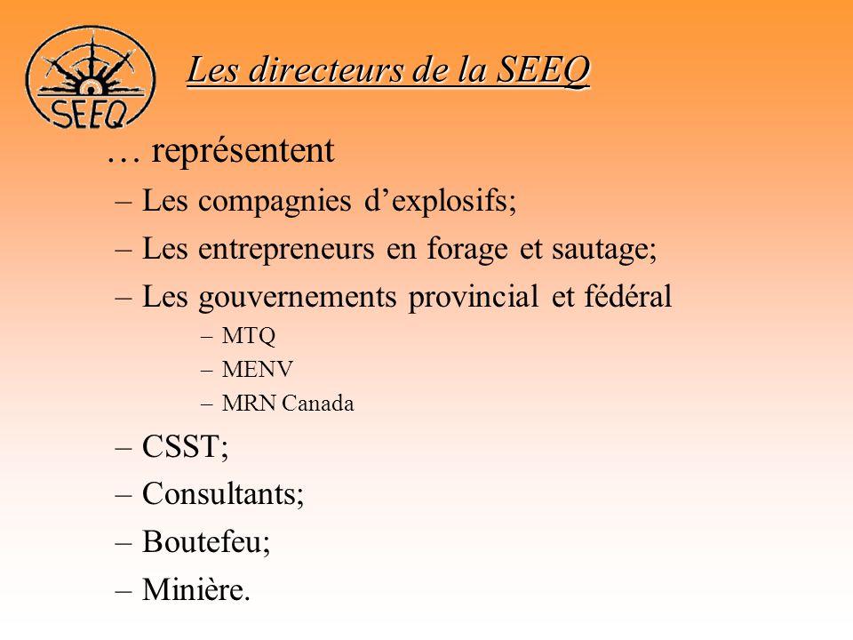 Les directeurs de la SEEQ