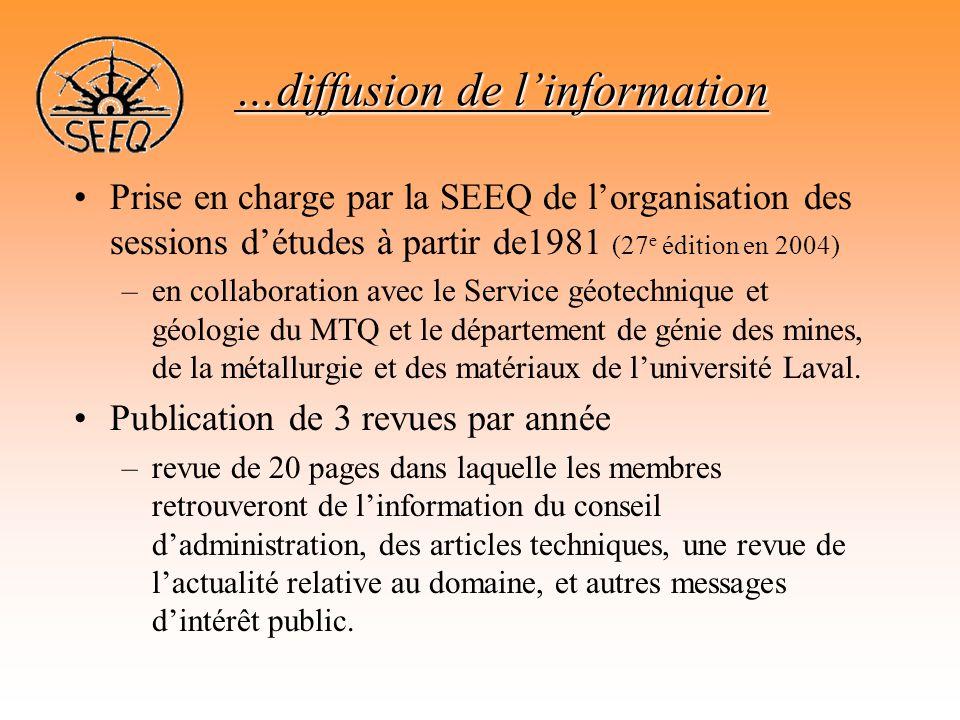 …diffusion de l'information