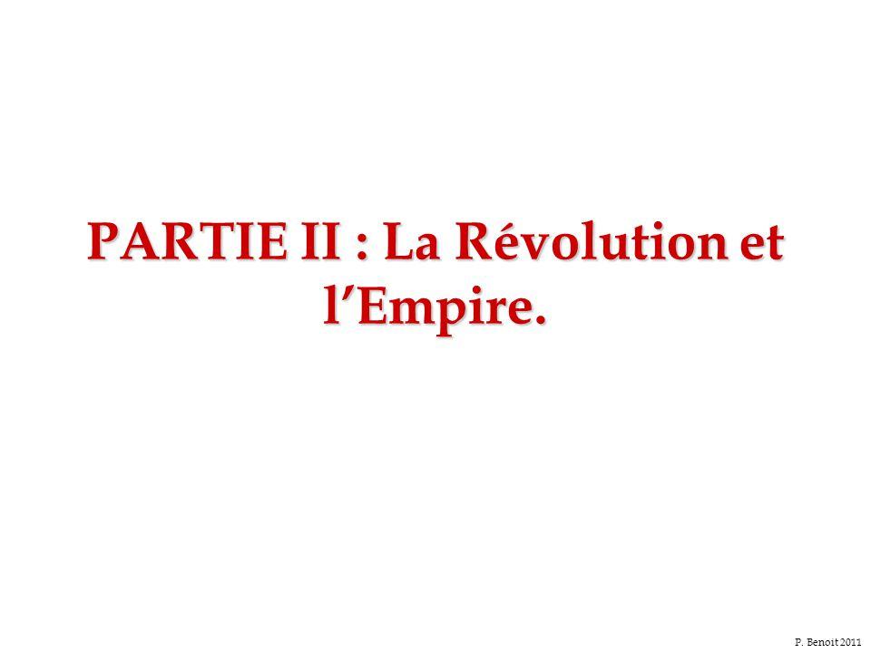 PARTIE II : La Révolution et l'Empire.