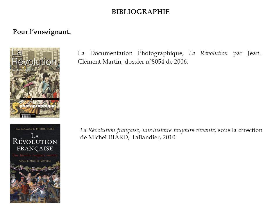 BIBLIOGRAPHIE Pour l'enseignant.