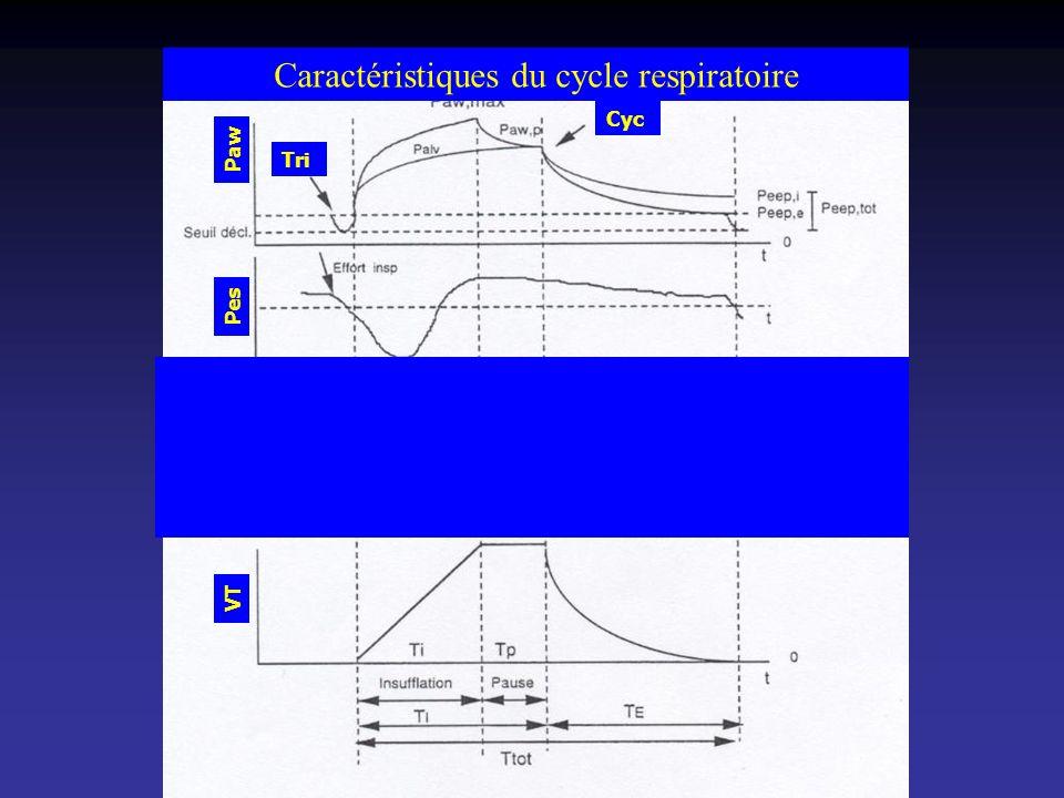 Caractéristiques du cycle respiratoire