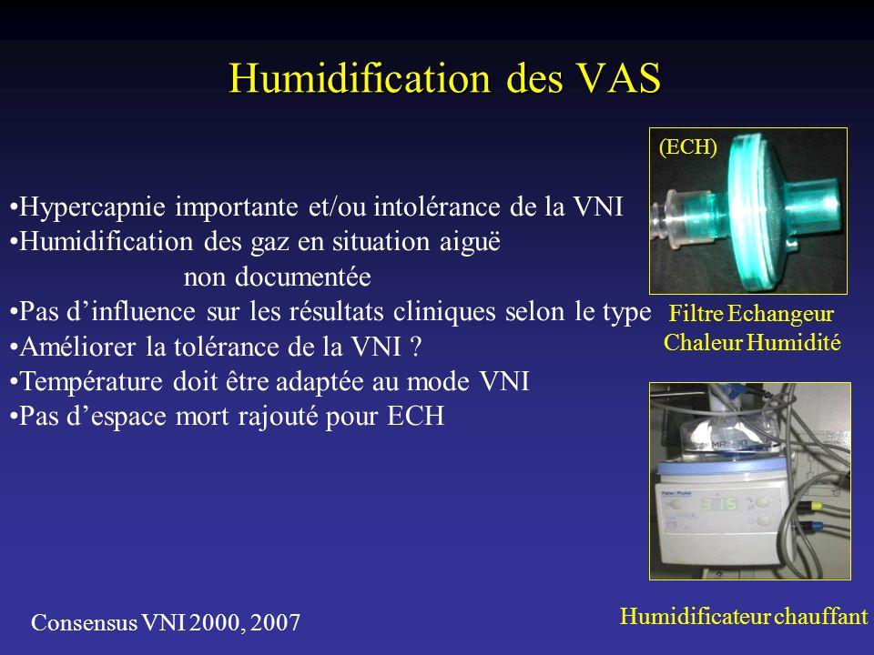 Humidification des VAS