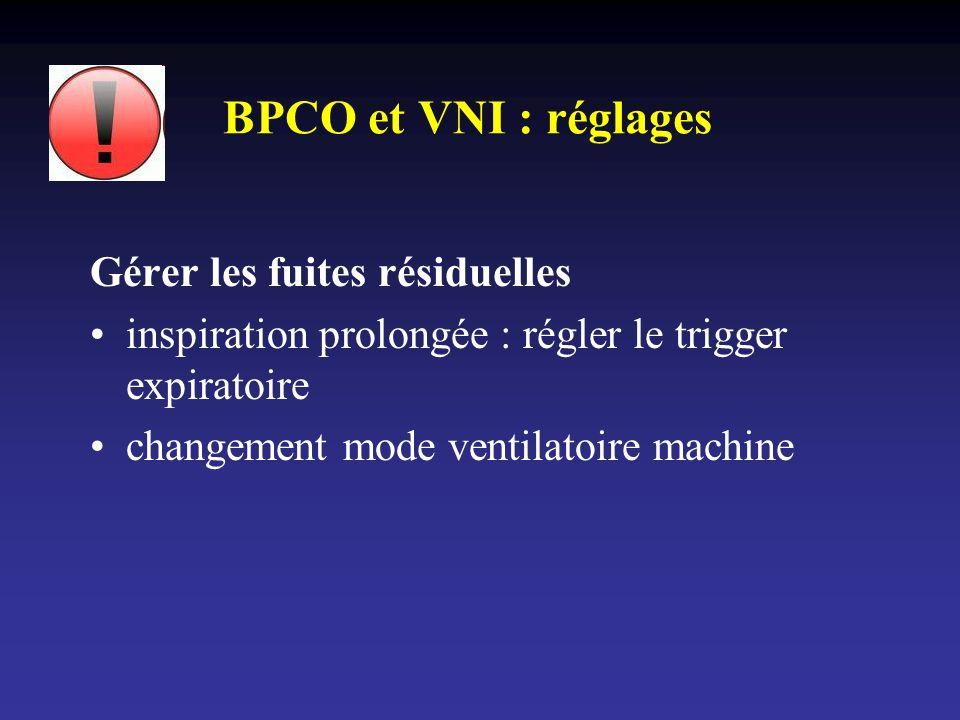 BPCO et VNI : réglages Gérer les fuites résiduelles