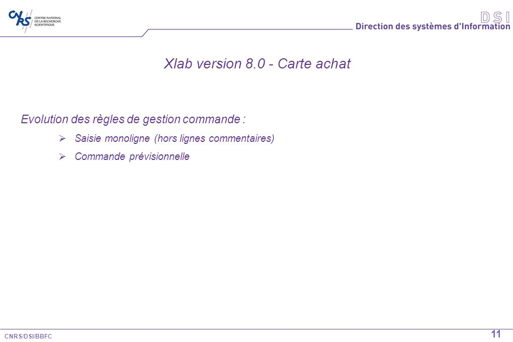 Xlab version 8.0 - Carte achat