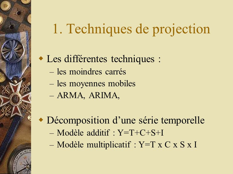 1. Techniques de projection
