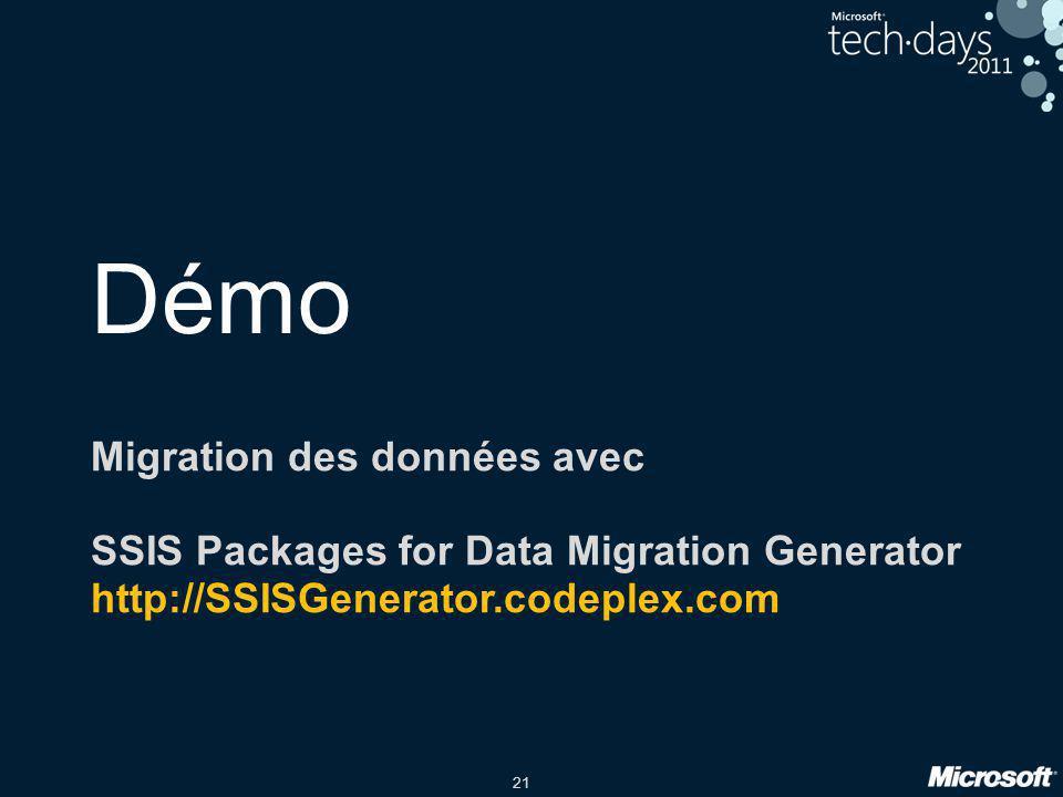 Démo Migration des données avec
