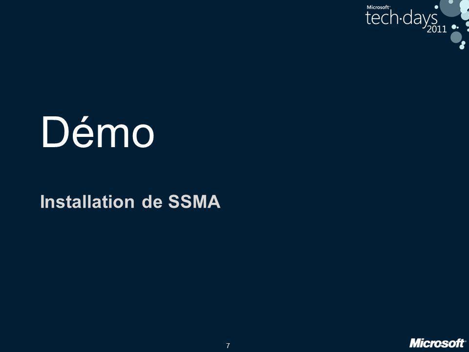 Démo Installation de SSMA