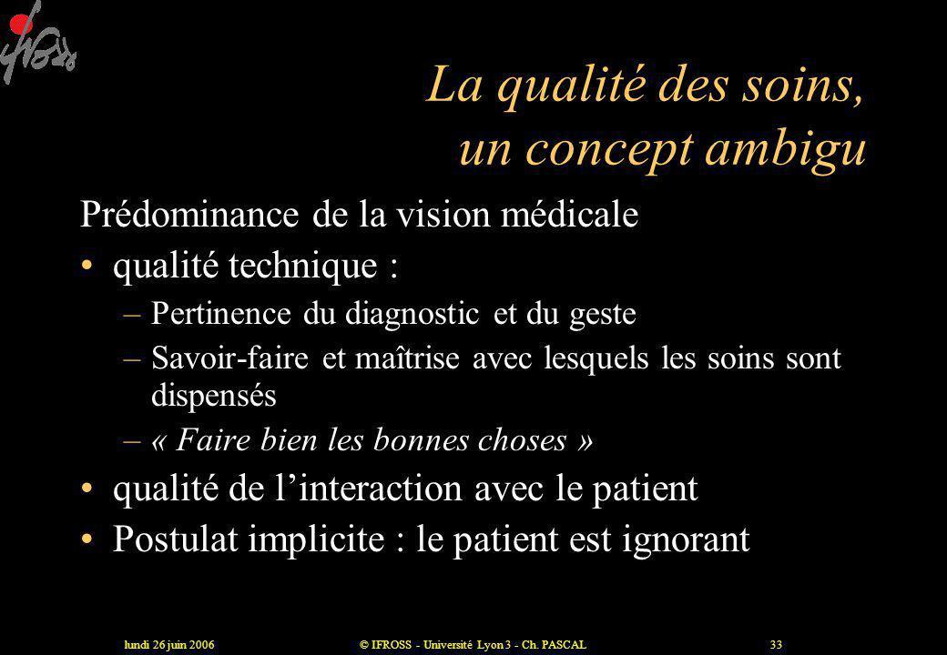 La qualité des soins, un concept ambigu