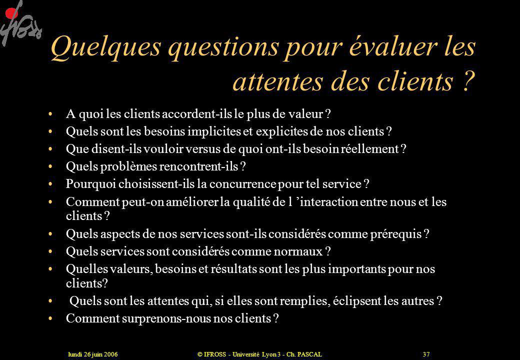 Quelques questions pour évaluer les attentes des clients