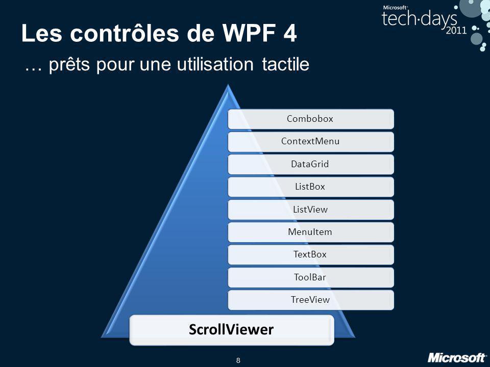 Les contrôles de WPF 4 … prêts pour une utilisation tactile