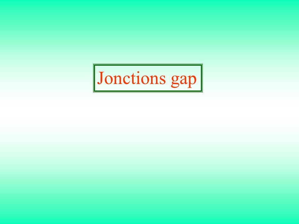 Jonctions gap