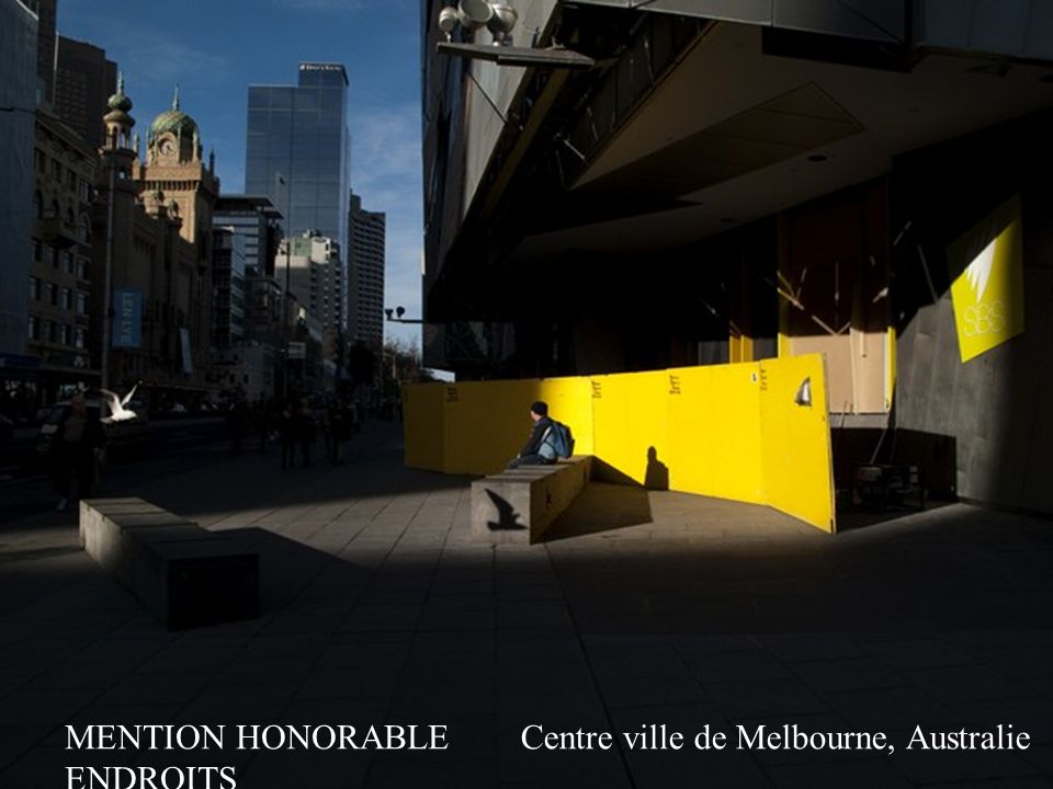 MENTION HONORABLE ENDROITS Centre ville de Melbourne, Australie