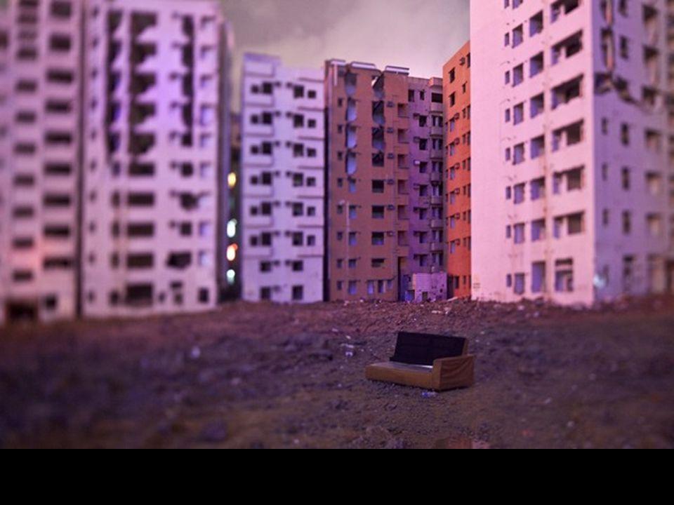 Édifices attendant d'être détruits dans la province de Shenzhen en Chine