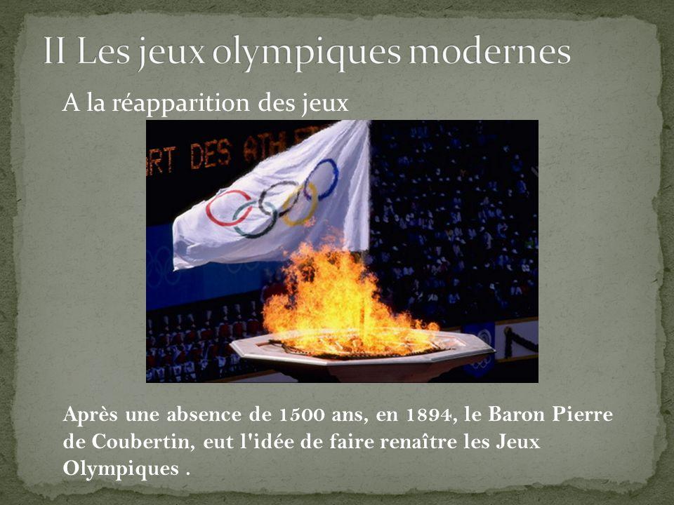 II Les jeux olympiques modernes