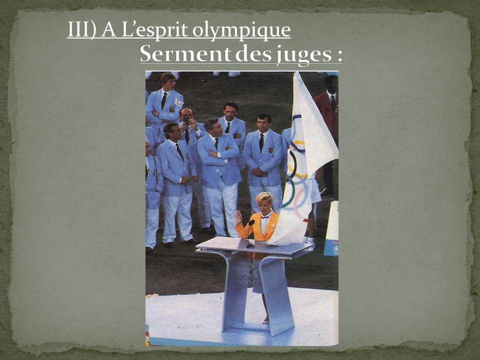 III) A L'esprit olympique
