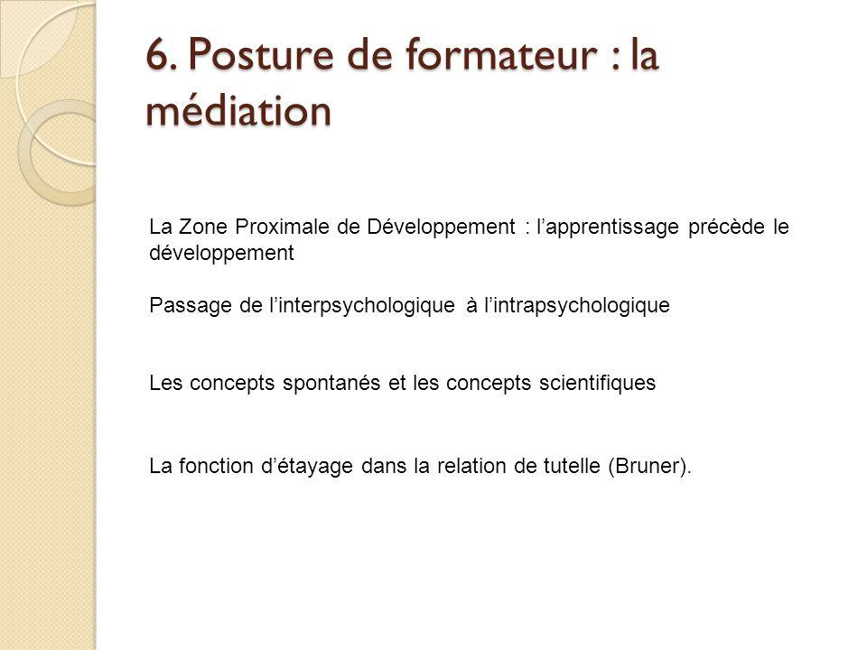 6. Posture de formateur : la médiation