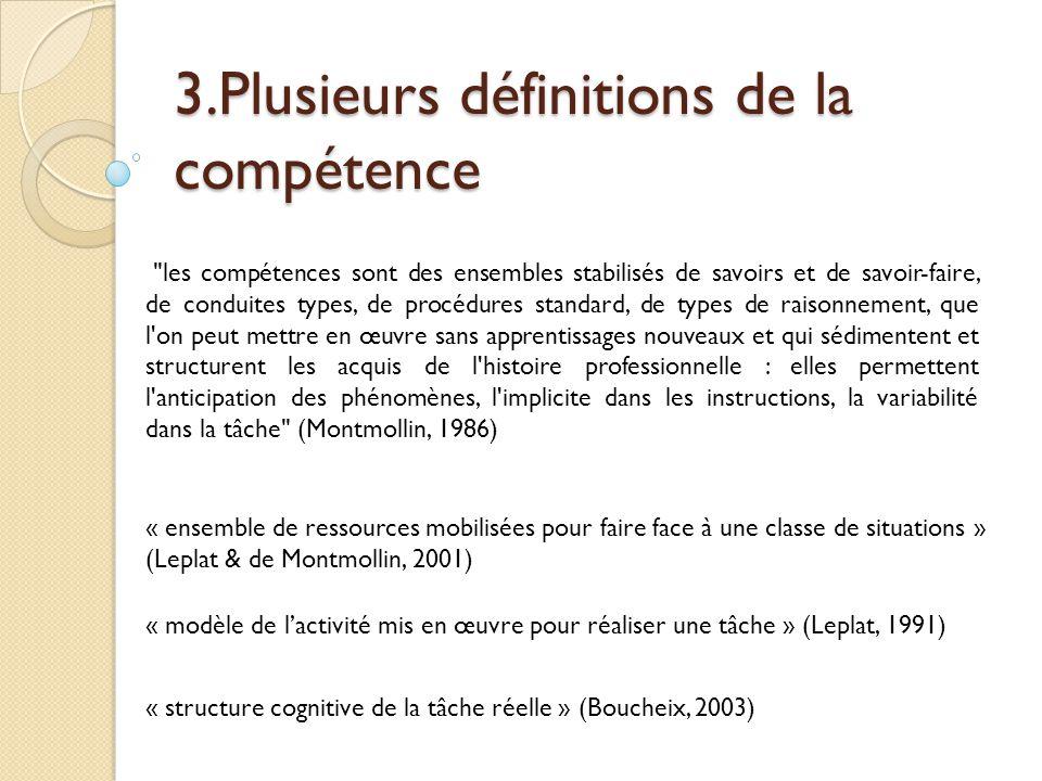 3.Plusieurs définitions de la compétence