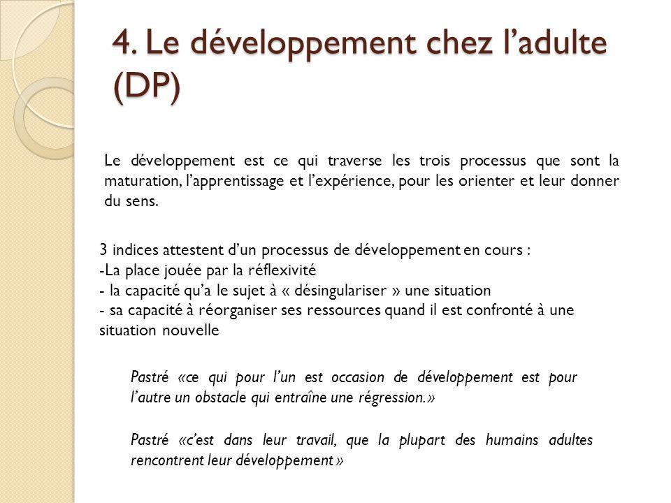 4. Le développement chez l'adulte (DP)