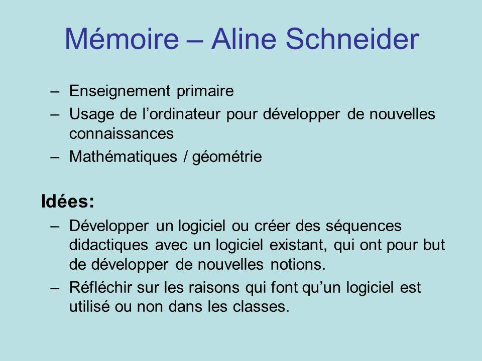 Mémoire – Aline Schneider