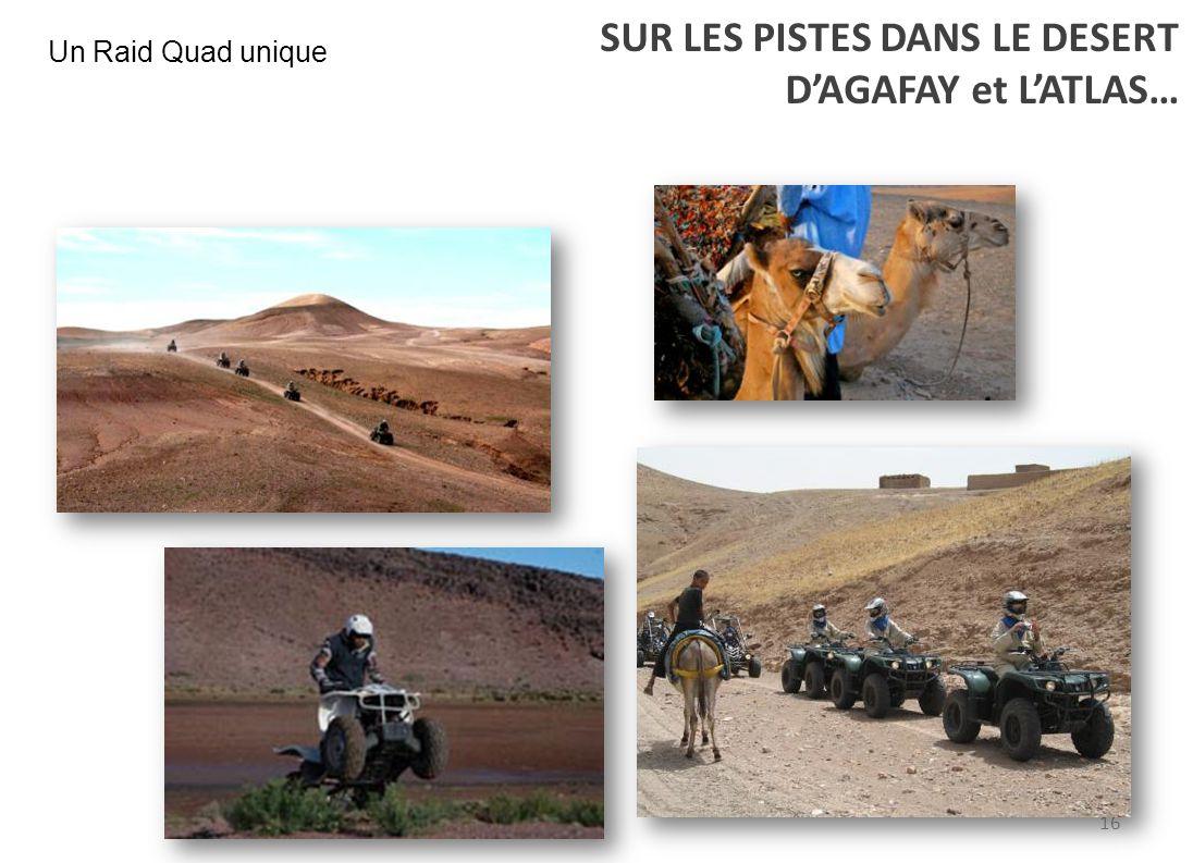 SUR LES PISTES DANS LE DESERT D'AGAFAY et L'ATLAS…