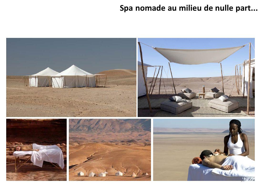 Spa nomade au milieu de nulle part...