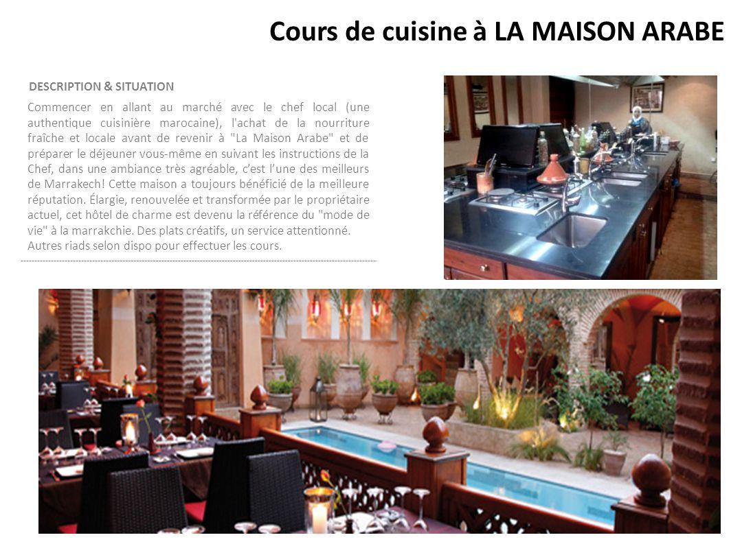 Cours de cuisine à LA MAISON ARABE
