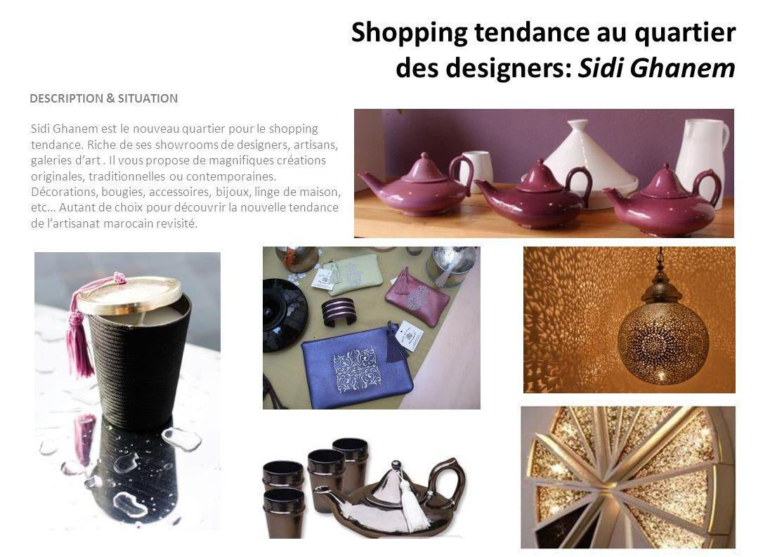 Shopping tendance au quartier des designers: Sidi Ghanem