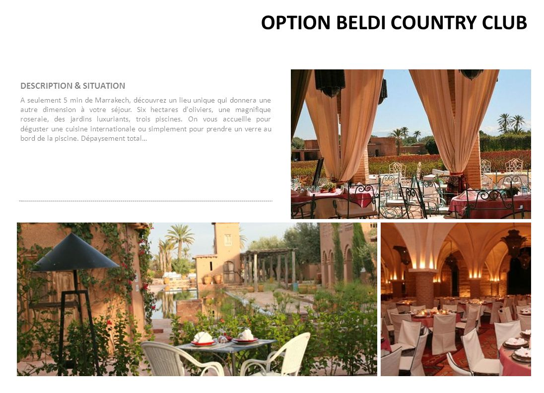 OPTION BELDI COUNTRY CLUB
