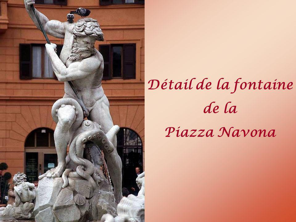 Détail de la fontaine de la Piazza Navona