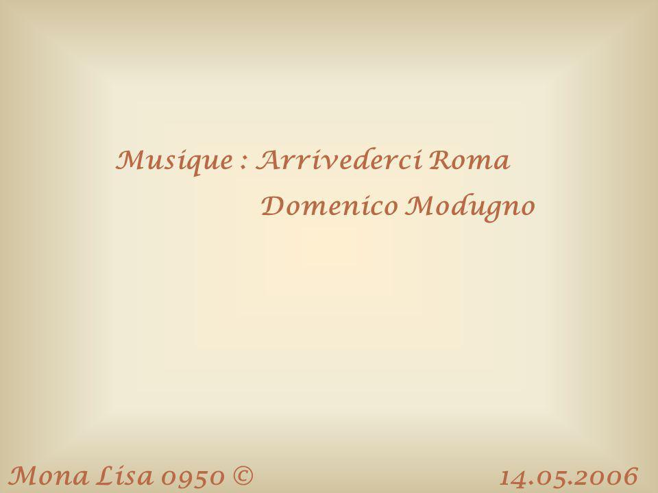 Musique : Arrivederci Roma