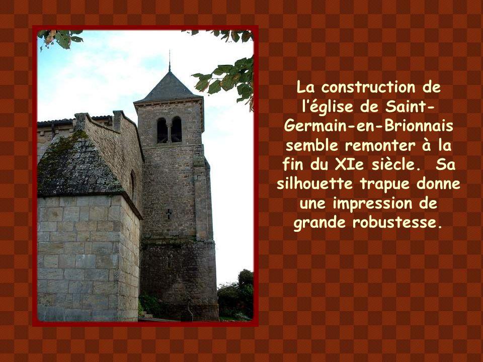 La construction de l'église de Saint-Germain-en-Brionnais semble remonter à la fin du XIe siècle.