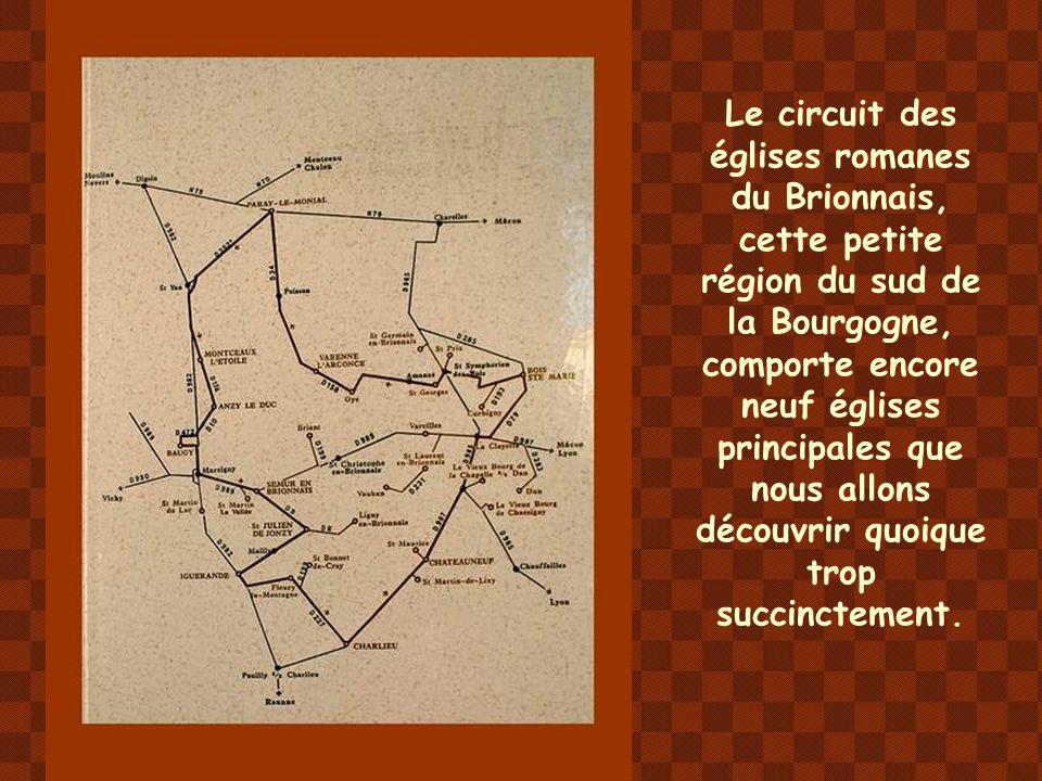 Le circuit des églises romanes du Brionnais, cette petite région du sud de la Bourgogne, comporte encore neuf églises principales que nous allons découvrir quoique trop succinctement.