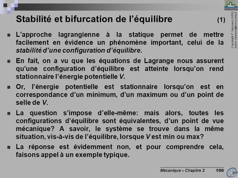 Stabilité et bifurcation de l'équilibre (1)