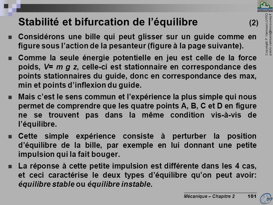 Stabilité et bifurcation de l'équilibre (2)