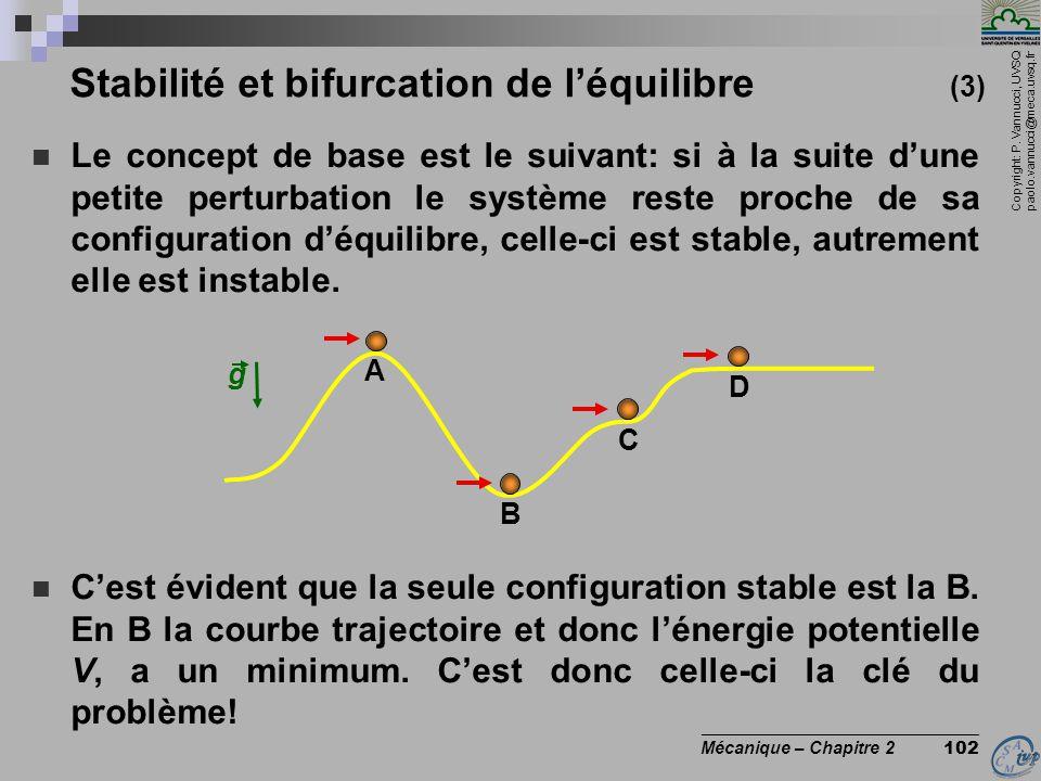 Stabilité et bifurcation de l'équilibre (3)