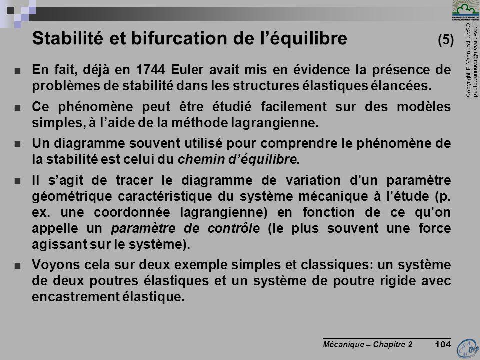 Stabilité et bifurcation de l'équilibre (5)