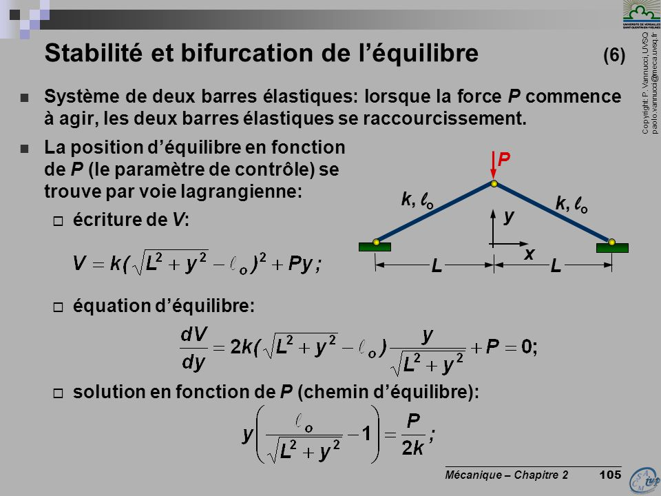 Stabilité et bifurcation de l'équilibre (6)
