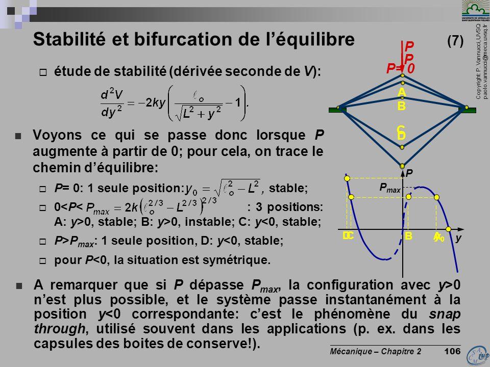 Stabilité et bifurcation de l'équilibre (7)