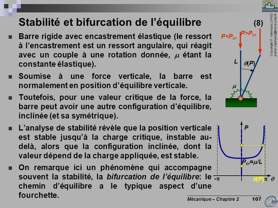 Stabilité et bifurcation de l'équilibre (8)