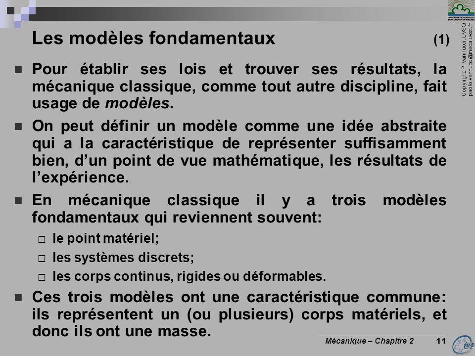 Les modèles fondamentaux (1)