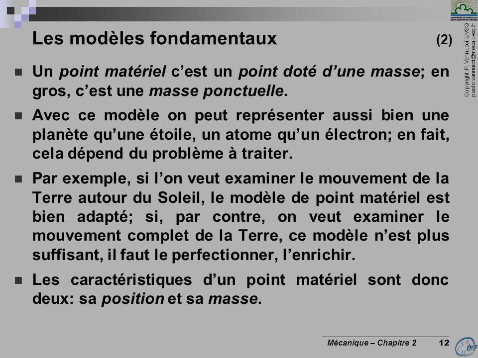 Les modèles fondamentaux (2)
