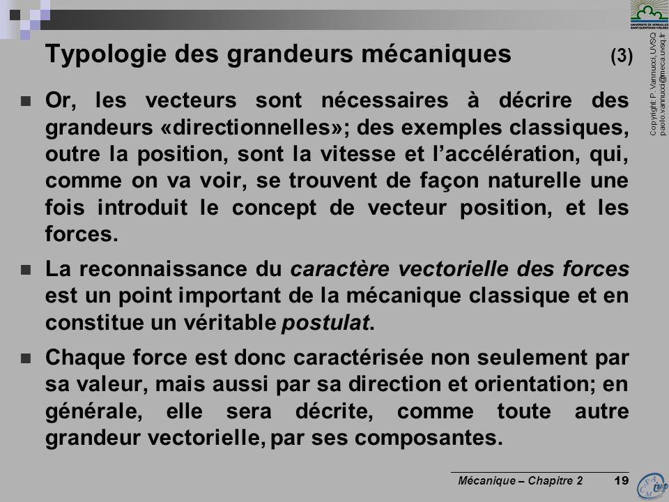 Typologie des grandeurs mécaniques (3)