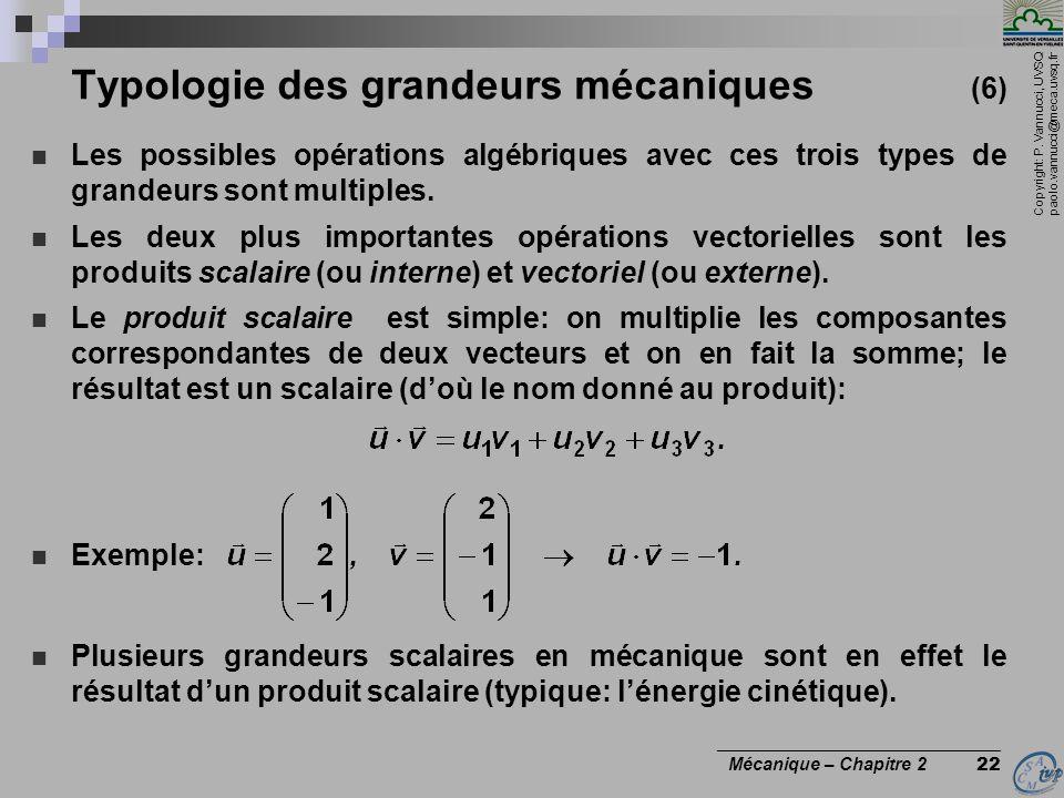 Typologie des grandeurs mécaniques (6)