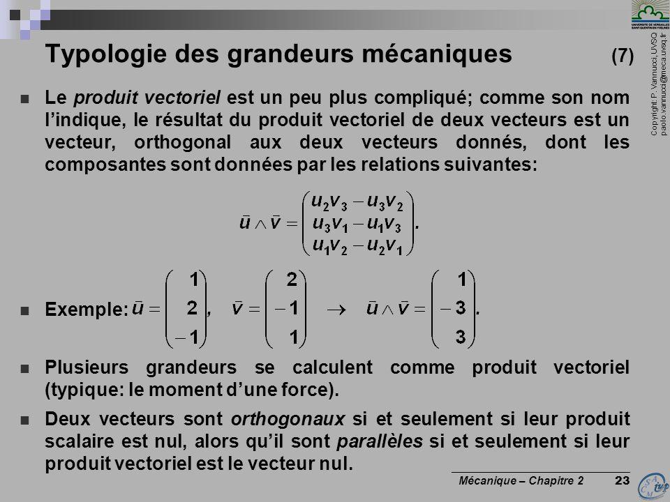 Typologie des grandeurs mécaniques (7)