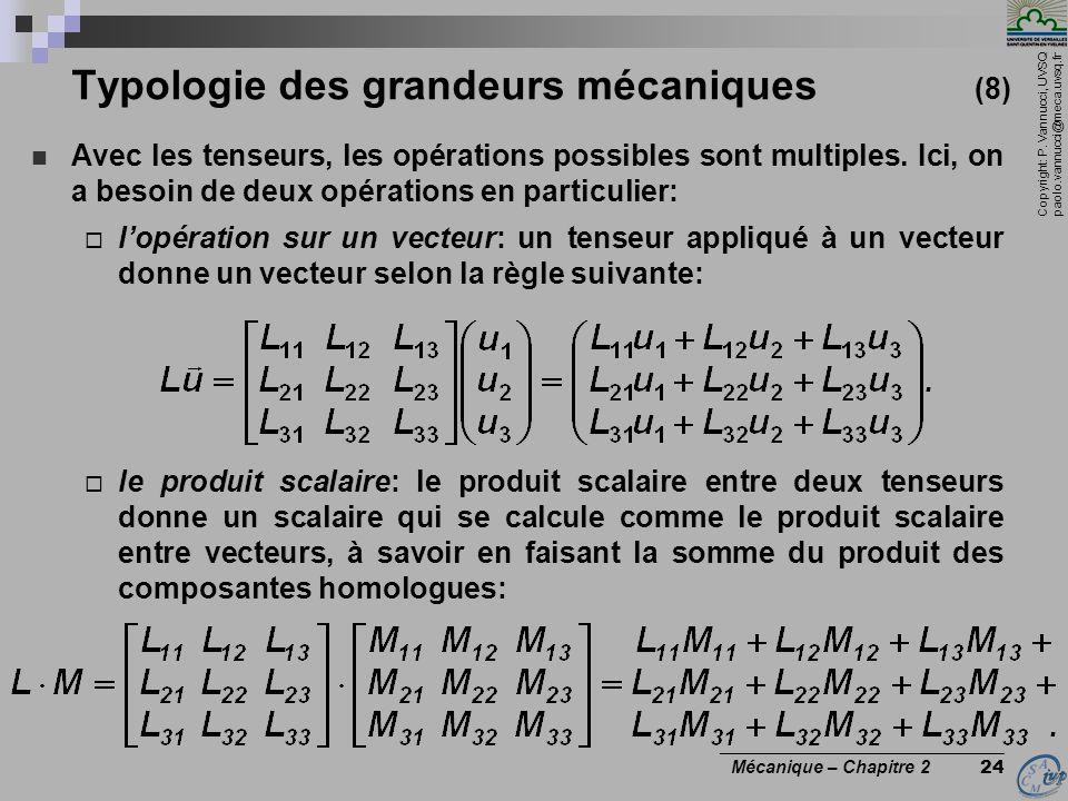 Typologie des grandeurs mécaniques (8)