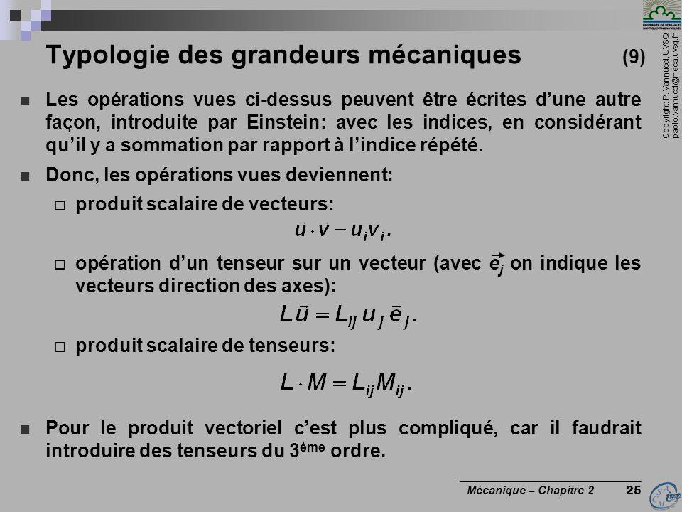 Typologie des grandeurs mécaniques (9)