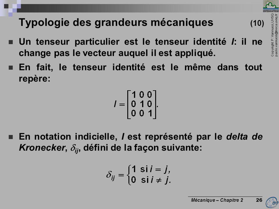 Typologie des grandeurs mécaniques (10)