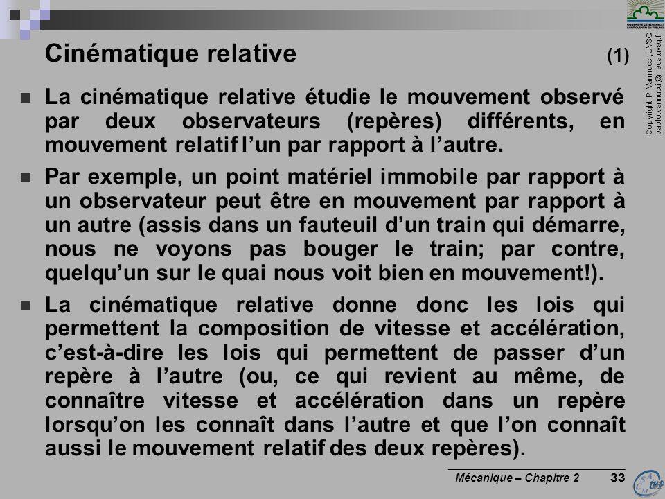 Cinématique relative (1)